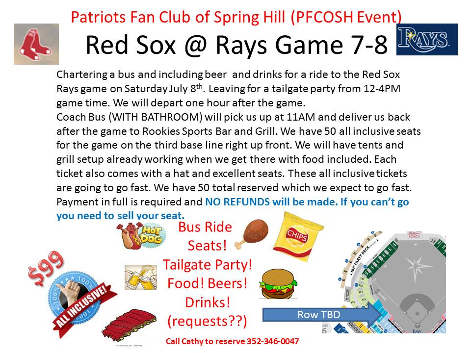 Red sox  tailgate party 7 8