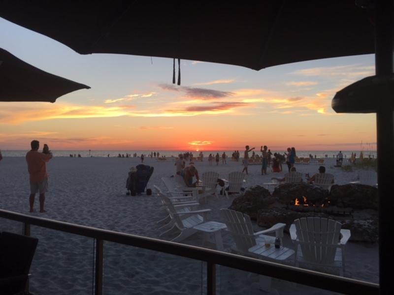 Sand pearl sunset
