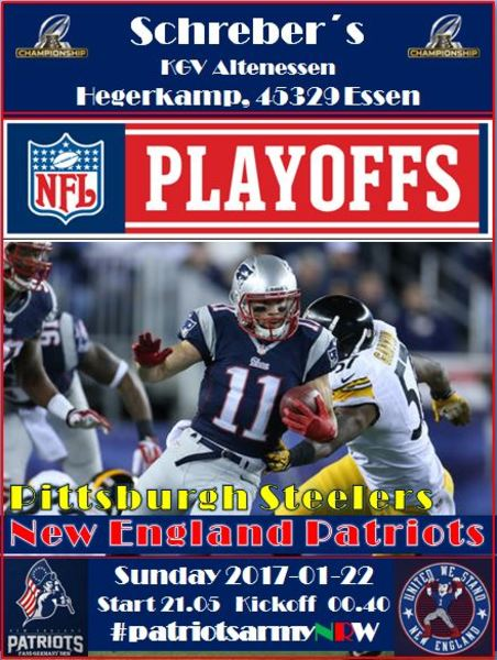 Championship pats steelers 2017