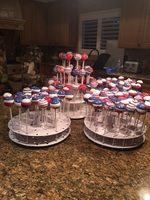 Cake pops red white and blue