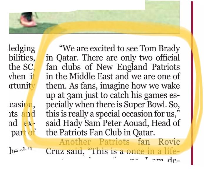 Brady in doha