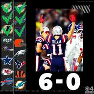 Pat's beat giants  35 14  remain undefeated  6 0  b