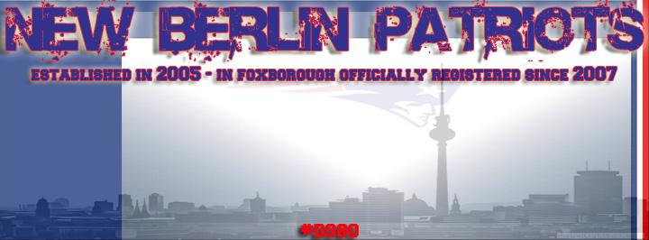 Patriots berlin banner